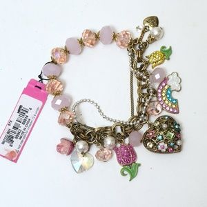 Betsey Johnson Charm Bracelet NWT